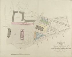PLAN OF THE Proposed Improvements at CHARING CROSS, ST. ST MARTIN'S LANE AND Entrance to the Strand
